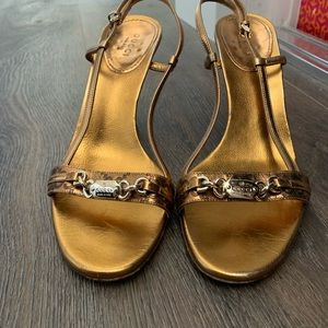 Gucci sling back heels